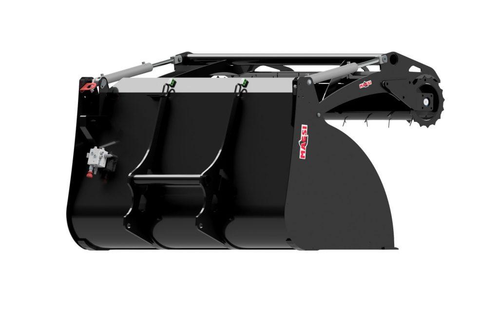 Benne à rotor mobile